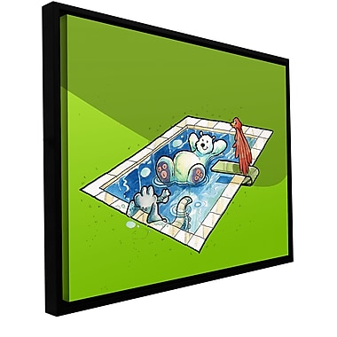 ArtWall 'Polar 5' by Luis Peres Framed Graphic Art on Wrapped Canvas; 14'' H x 18'' W