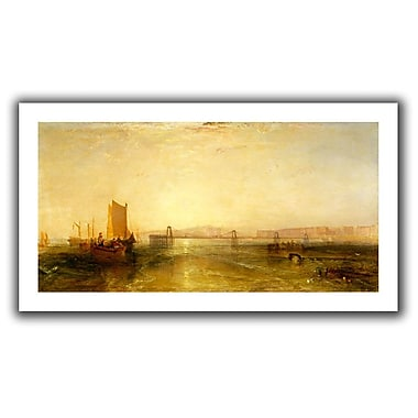 ArtWall Brighton from the Sea' by William Turner Painting Print on Rolled Canvas; 22'' H x 40'' W