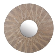 Privilege Round Wooden Mirror