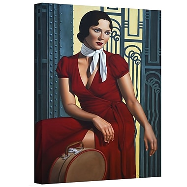 ArtWall 'Gare de lEst' by Catherine Abel Graphic Art on Wrapped Canvas; 24'' H x 16'' W