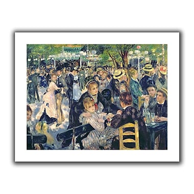 ArtWall Ball at the Moulin de la galette' by Pierre Renoir Painting Print on Rolled Canvas