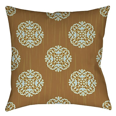 Manual Woodworkers & Weavers Bold in Blue Medallion Indoor/Outdoor Throw Pillow