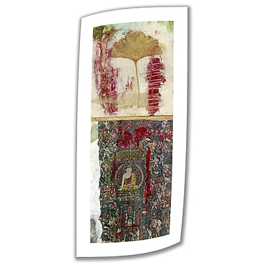 ArtWall Medicine-Buddha 2' Unwrapped by Elena Ray Painting Print on Rolled Canvas; 24'' H x 8'' W