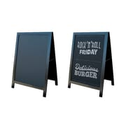 "Futech CA-BOARD43 Chalkboard Metal A-Frame, 34-3/4"" x 24-1/4"" x 21"", Dark Brown Power Coated"