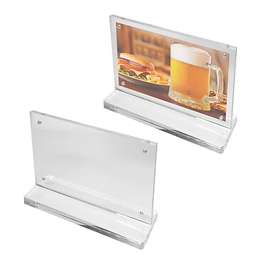 Futech CTS0194 Countertop Magnetic Acrylic Sign Holder, 5-1/2