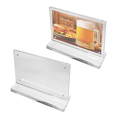Futech - Porte-enseignes magnétique de comptoir en acrylique CTS0194 5 ½ po x 7 po x 2 po, transparent, paq./10