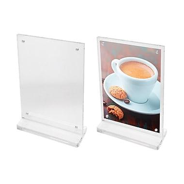 Futech - Porte-enseignes magnétique de comptoir en acrylique CTS0197, 7 ½ po x 5 po x 2 po, transparent, paq./10