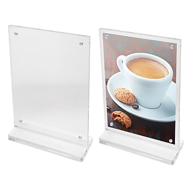 Futech CTS0198 Countertop Magnetic Acrylic Sign Holder, 8-3/4