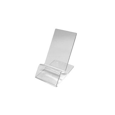 Futech – Présentoir de type chevalet en acrylique CTS0225, 3 ½ po x 2 ¼ po x 3 ¼ po, transparent, paq./10