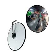 "Futech CV16 Security Convex Mirror, 16"" x 16"" x 3"", Black Trim"