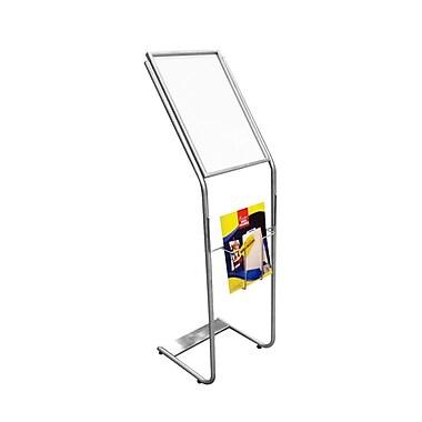 Futech - Porte-enseigne pour le sol FSH-006, 46 po x 13 ½ po x 14 po, acier inoxydable