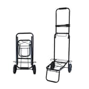 "Futech HC002 Folding Hand Cart, 39"" x 13-1/2"" x 17"", Black"