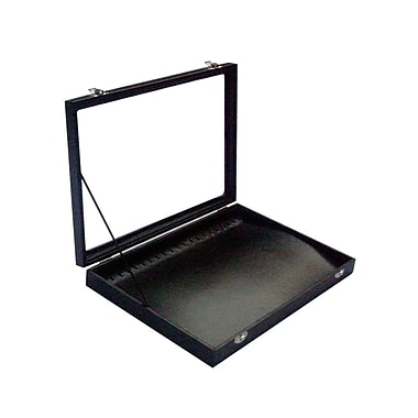 Futech – Plateau à bracelets/colliers avec couvercle en verre JBOX-N21BL, plateau noir/intérieur noir, paq./2
