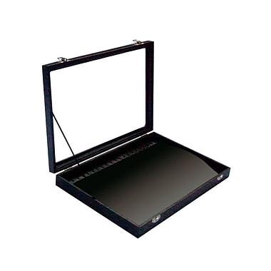 Futech – Plateau à bracelets/colliers avec couvercle en verre JBOX-N21BV, plateau noir/intérieur noir, paq./2