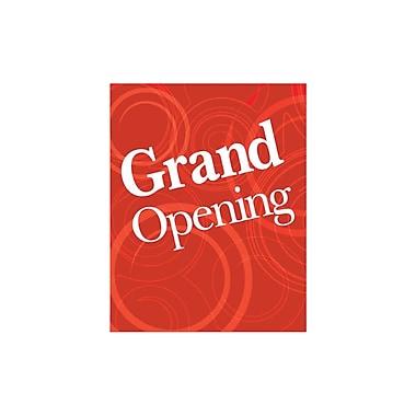 Futech - Affiche en papier cartonné « GRAND OPENING » PSP006, 28 po x 22 po x ? po, rouge, paq./4