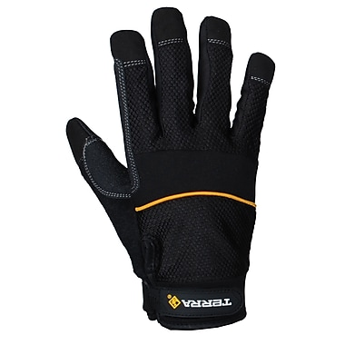 Terra Light Weight Mechanics Glove, Large, 3 Pairs/Pack