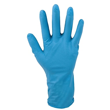 Work Tuff – Gants jetables en nitrile à texture diamantée, 6 mil, grand, paq./200