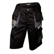"Terra ""Drill"" Poly/Cotton Work Shorts, Black, 2/Pack"