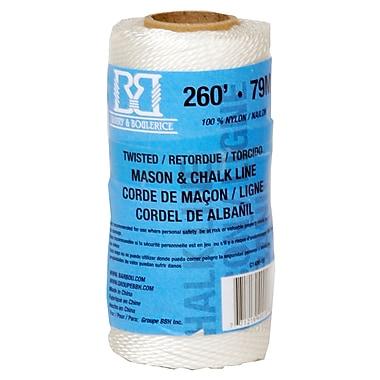 Barry & Boulerice White Mason/Chalk Line, 260', 18/Pack