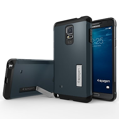 Spigen Tough Armor Case for Samsung Galaxy Note 4, Metal Slate