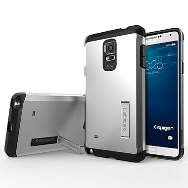 Spigen Tough Armor Case for Samsung Galaxy Note 4, Satin Silver
