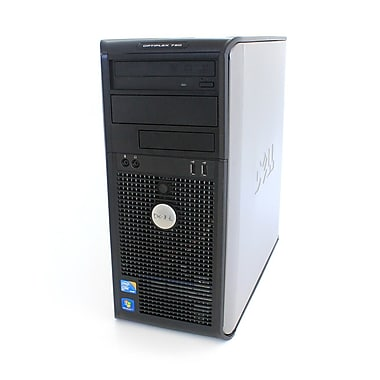 Dell - PC Optiplex 780 tour, remis à neuf, Intel Core 2 Duo E8400, 3 GHz, RAM 4Go, DD 250Go, DVD/RW, Win 10 Pro 64 bits