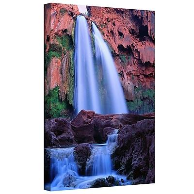 ArtWall 'Havasu Falls Dusk' by Dean Uhlinger Graphic Art on Wrapped Canvas; 24'' H x 18'' W