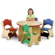 Playscapes Friends Kids Desk Chair; Speckletone / Purple