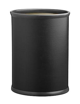 Kraftware Comtempo 3.25 Gallon Waste Basket; Black