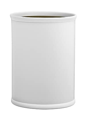 Kraftware Comtempo 3.25 Gallon Waste Basket; White