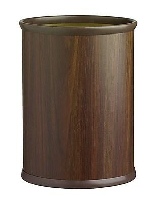 Kraftware Woodcraft 3.25 Gallon Waste Basket; Walnut
