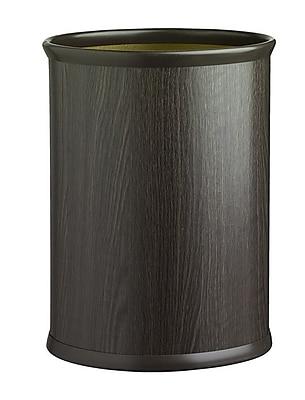 Kraftware Woodcraft 3.25 Gallon Waste Basket; Ebony