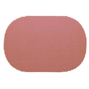 Kraftware Fishnet Reversible Oval Placemat; Orchid