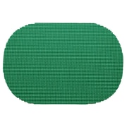 Kraftware Fishnet Reversible Oval Placemat; Emerald