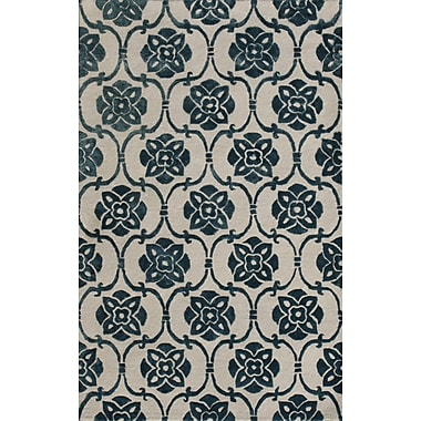 Noble House Amber Beige & Blue Area Rug; 5' x 8'