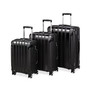 Seville Classics 3-Piece Luggage Set, Black (MSC56011)