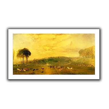 ArtWall Sunset, Fighting Bucks' by William Turner Painting Print on Rolled Canvas; 22'' H x 40'' W