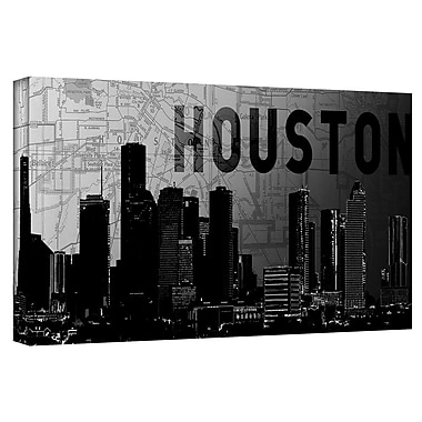 ArtWall 'Houston' by Art Sandcraft Graphic Art on Wrapped Canvas; 18'' H x 36'' W
