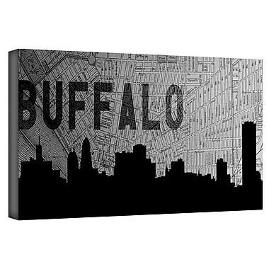 ArtWall 'Buffalo' by Art Sandcraft Graphic Art on Wrapped Canvas; 24'' H x 48'' W