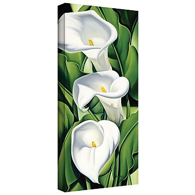 ArtWall 'Lilies, 2002' by Catherine Abel Graphic Art on Canvas; 36'' H x 18'' W
