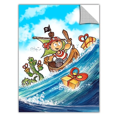 ArtWall ArtApeelz 'Kid Pirate' by Luis Peres Graphic Art Removable Wall Decal