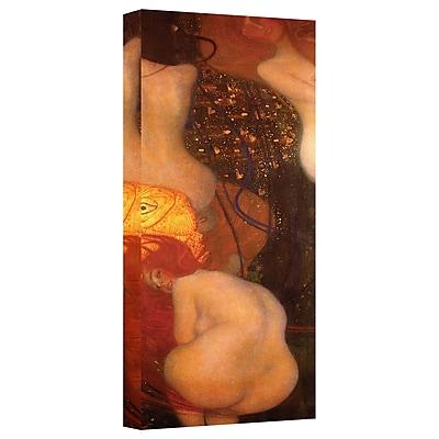 ArtWall ''Goldfish'' by Gustav Klimt Painting Print on Canvas; 18'' H x 6'' W