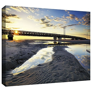 ArtWall 'Hatteras Pools and Bridge' by Steven Ainsworth Photographic Print on Wrapped Canvas
