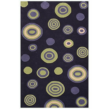 Noble House Decor Purple Area Rug; 5' x 7'6''