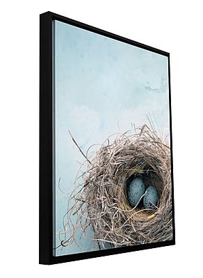 ArtWall 'Blue Nest' by Elena Ray Framed Photographic Print on Wrapped Canvas; 18'' H x 12'' W WYF078277293117