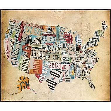 PTM Images Vintage Map Framed Graphic Art