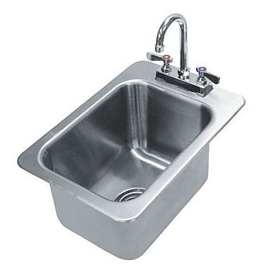 Advance Tabco 304 Series Single 1 Compartment Drop-in Hand Sink w/ Faucet; 5'' H x 12'' W x 14'' D