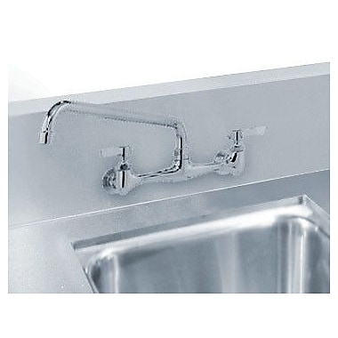 Advance Tabco Countertop Double Bowl Welded in Top Sink; 10'' H x 28'' W x 16'' D