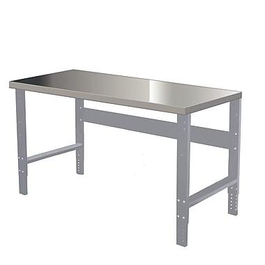 Hallowell Steel Workbench Top; 2'' H x 72'' W x 36'' D