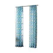 No. 918 Pavel Ikat Sheer Rod Pocket Single Curtain Panel; 50'' W x 95'' L
